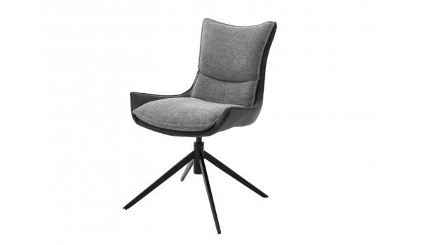 Chaise de salle à manger en tissu - Pieds pivotant 360°