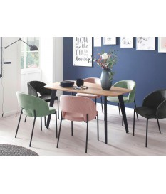 Table design bois et métal forme originale