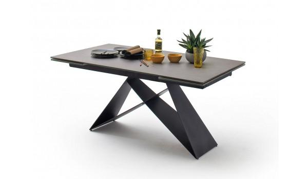 Table design 160-240 céramique anthracite