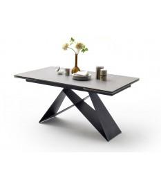 Table céramique extensible 160-240 gris clair
