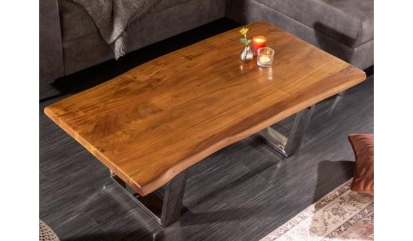Table basse design 110 cm / Bois acacia