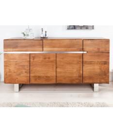 Buffet design en bois d'Acacia / 170 cm, 4 portes