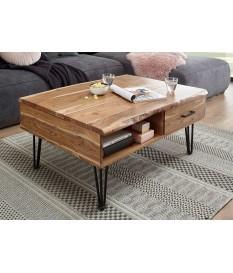 Table basse avec plateau relevable et rangement