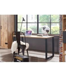 Table de bureau moderne 140 cm - Piétement en métal noir