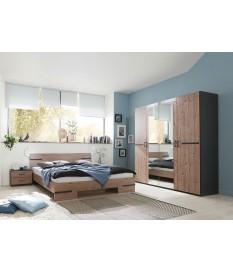 Chambre adulte - Grande armoire / lit double et chevets