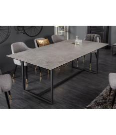 Table design rectangulaire / Céramique et piétement métal noir