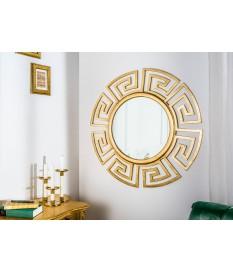 Miroir mural rond déco antique doré 85 cm