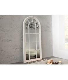 Miroir fenêtre blanc vieilli à suspendre ou à posé