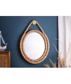 Miroir mural ovale corde marin