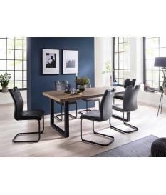 Table à manger rectangulaire chêne sauvage 160 ou 200 cm
