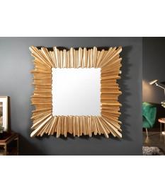 Miroir mural carré 96 cm cadre doré