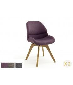 Chaises confortables en tissu - Pieds pivotant 180°