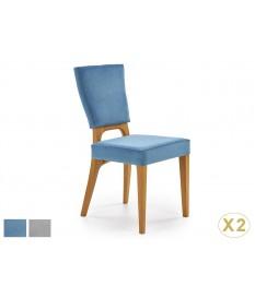 Chaises confortables en velours - Bleu ou grise