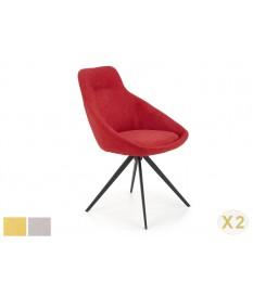 2 Chaises design en tissu pas cher