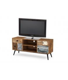 Petit meuble TV vintage bois 120 cm de longueur