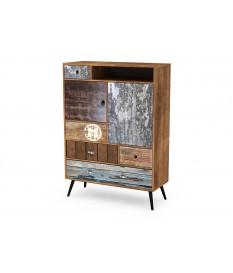 Buffet de rangement haut vintage en bois