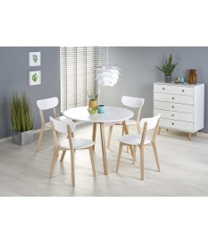 Table ronde blanche extensible