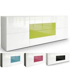 Buffet Design Blanc Laqué / 4 Portes & 4Tiroirs