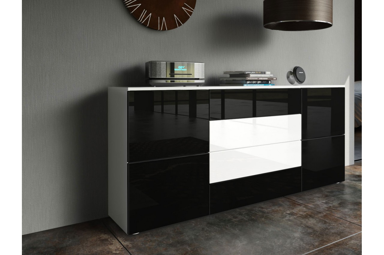buffet de salle manger design 4 portes 4 tiroirs pour salle manger. Black Bedroom Furniture Sets. Home Design Ideas