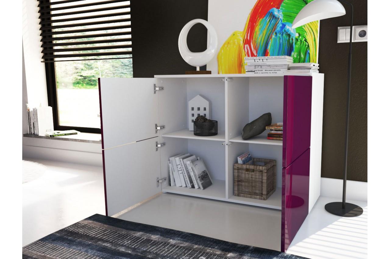 commode moderne de salon 4 portes laqu ou structur pour. Black Bedroom Furniture Sets. Home Design Ideas