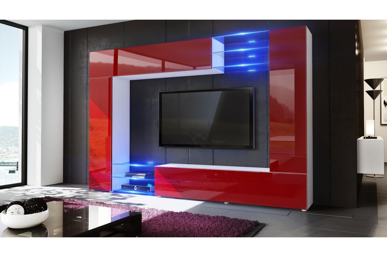 Meuble T L Mural Design 12 Finitions Moderne Au Choix Novomeuble # Meuble Tele Fixation