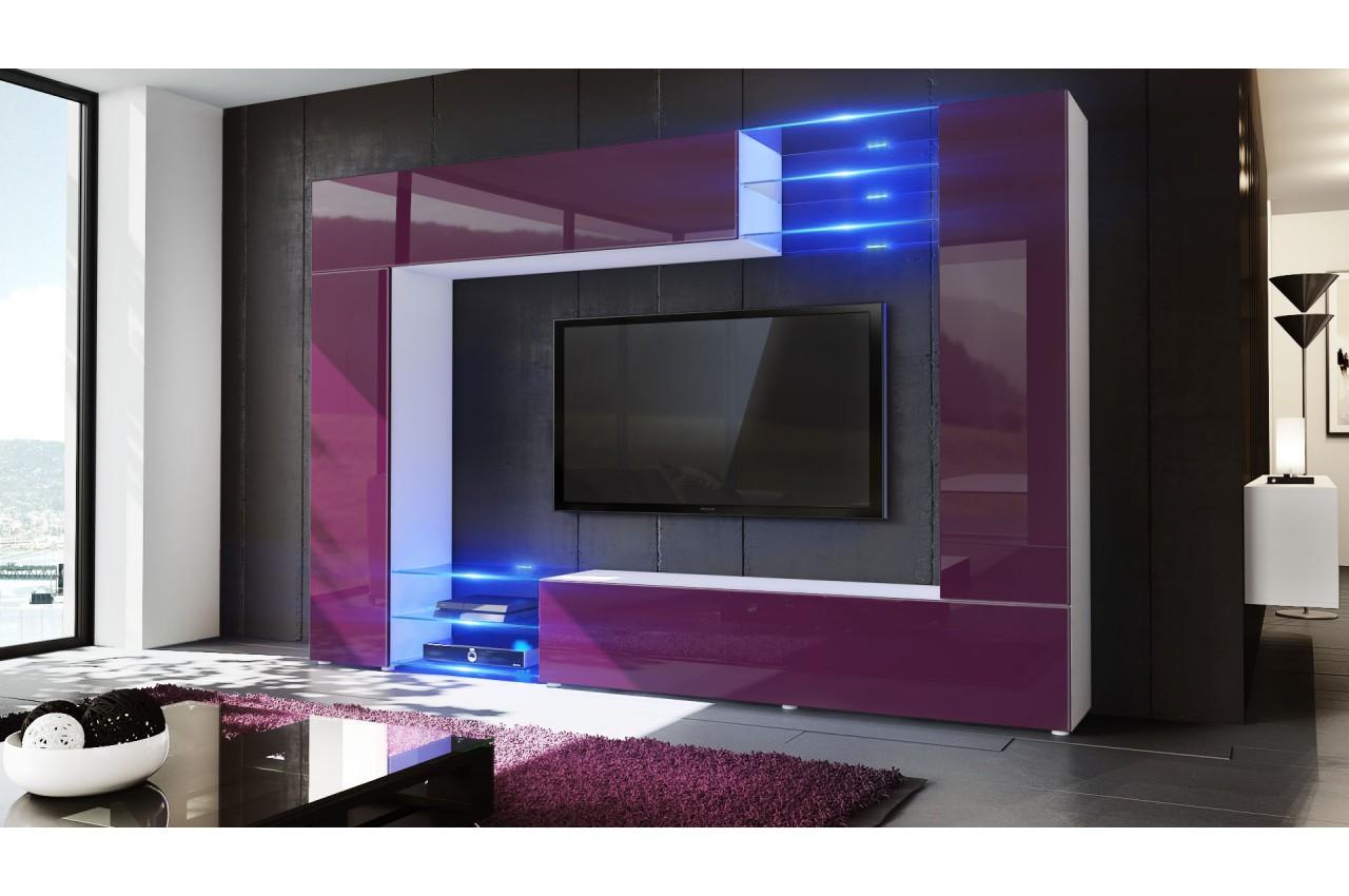meuble t l mural design 12 finitions moderne au choix novomeuble. Black Bedroom Furniture Sets. Home Design Ideas