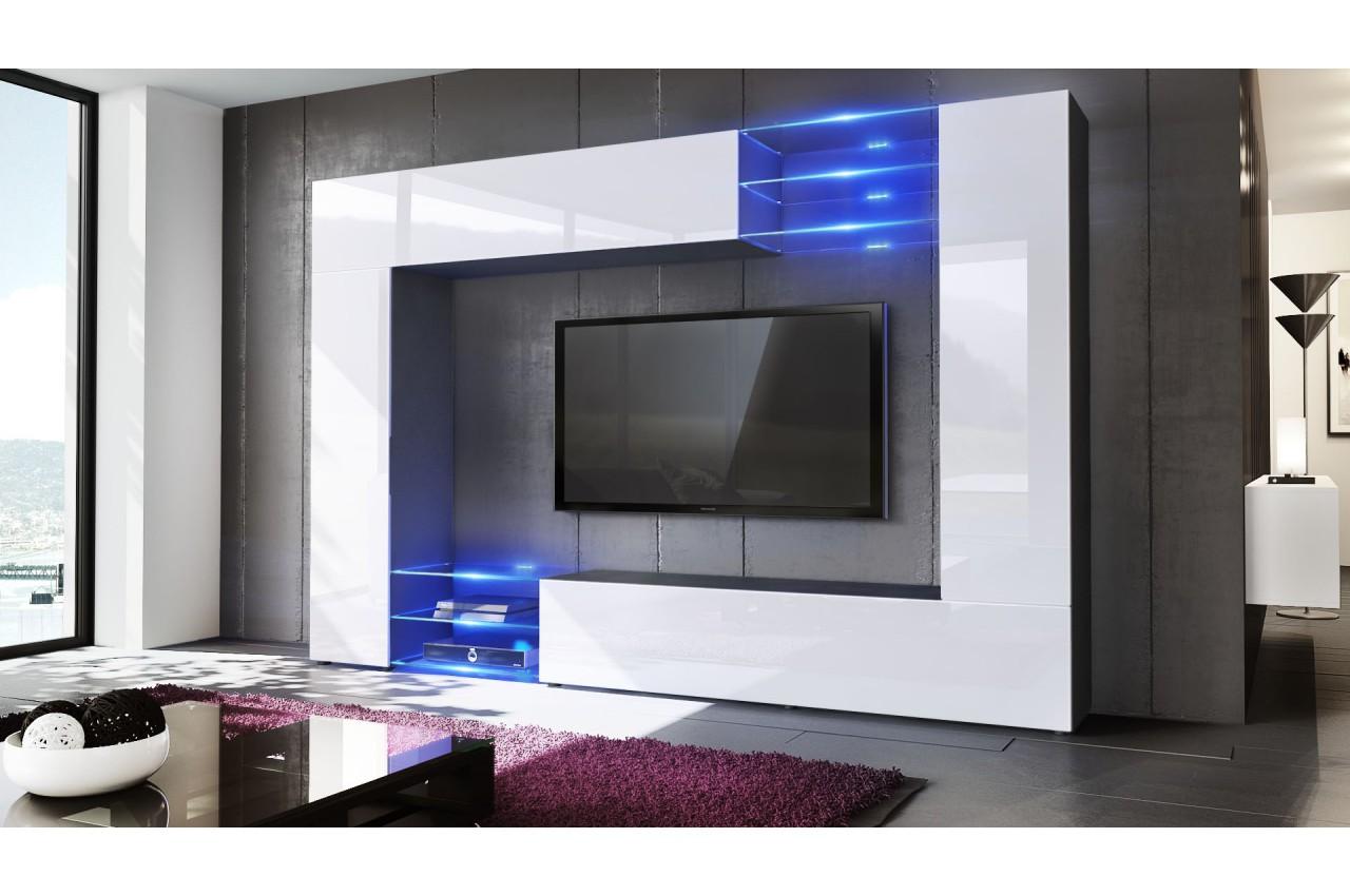 Meuble tv mural design 12 finitions moderne aux choix for Meuble mural moderne