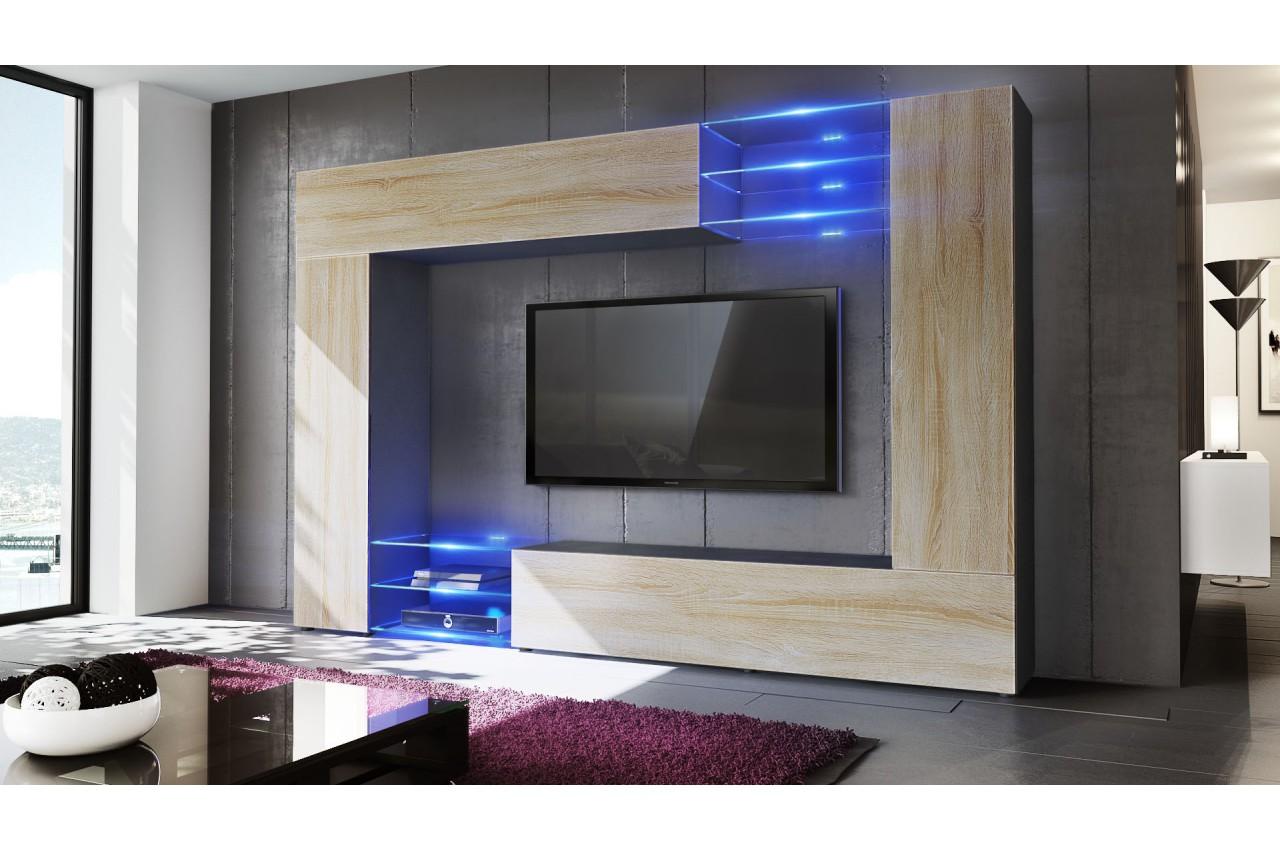 Meuble Tv Mural Design 12 Finitions Moderne Au Choix Pour