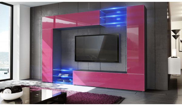 Meuble TV Mural Design 12 Finitions Moderne aux choix