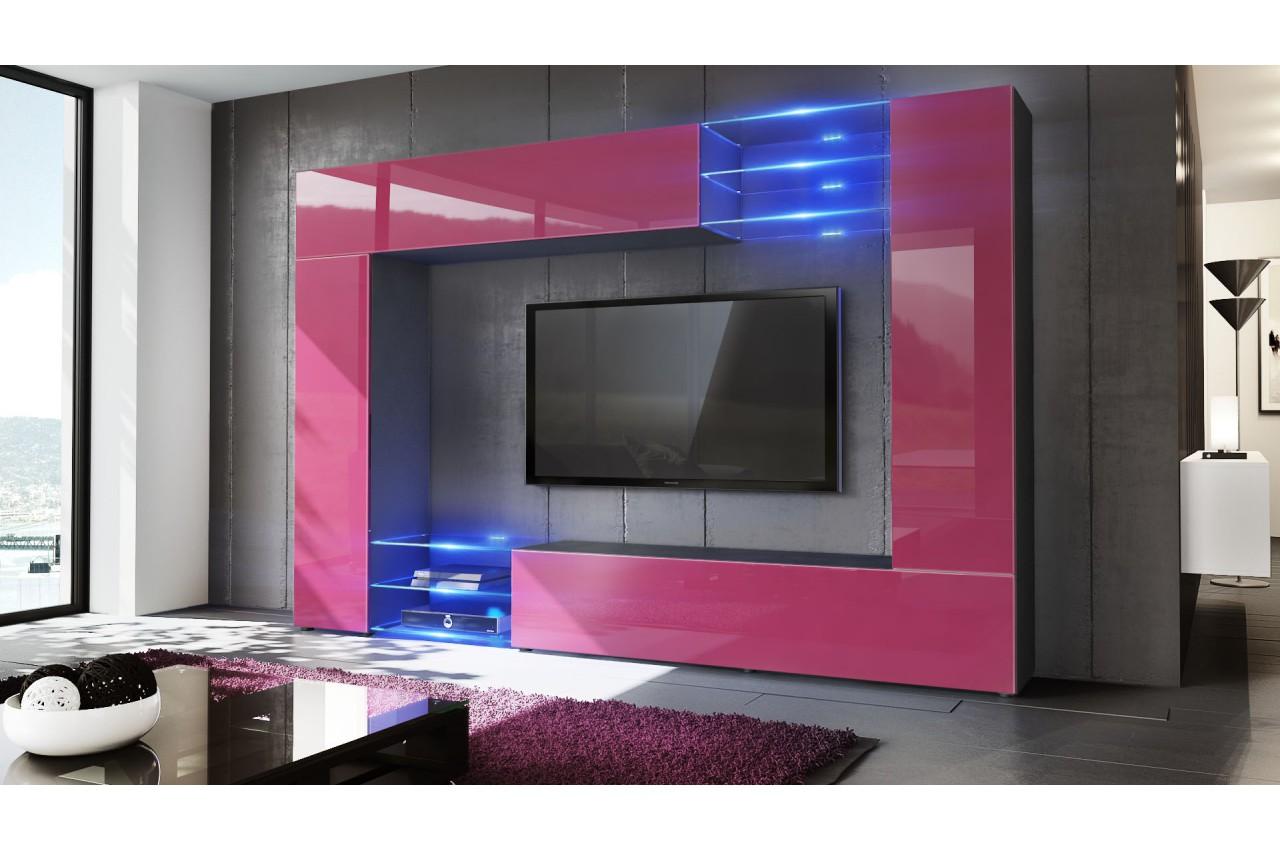 Meuble De Rangement Chambre Moderne : Meuble tv mural design finitions moderne au choix pour