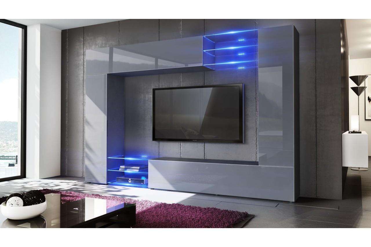 Meuble Tv Mural Design 12 Finitions Moderne Au Choix Novomeuble # Meuble Tv Mural Moderne