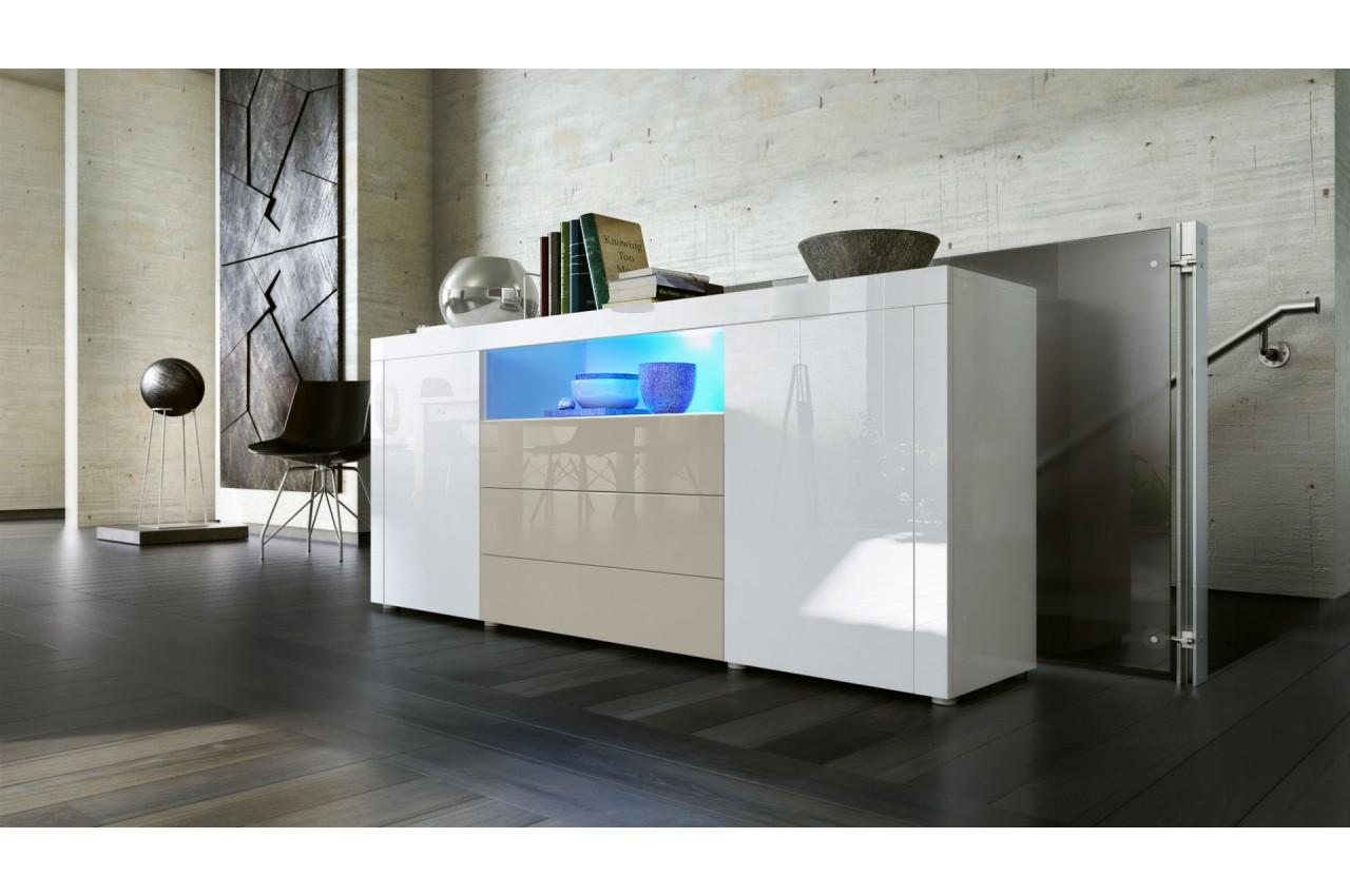 buffet de salon design 12 finitions moderne aux choix novomeuble. Black Bedroom Furniture Sets. Home Design Ideas