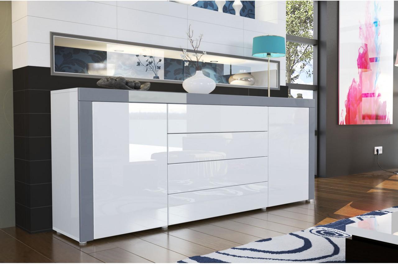 buffet de salon design laqu 10 finitions de couleurs modernes pour salle manger