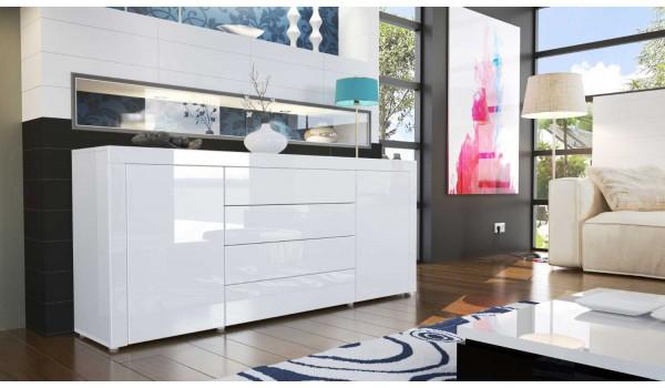 Buffet de salon design laqu 10 finitions de couleurs modernes pour salle manger - Buffet de salon ...