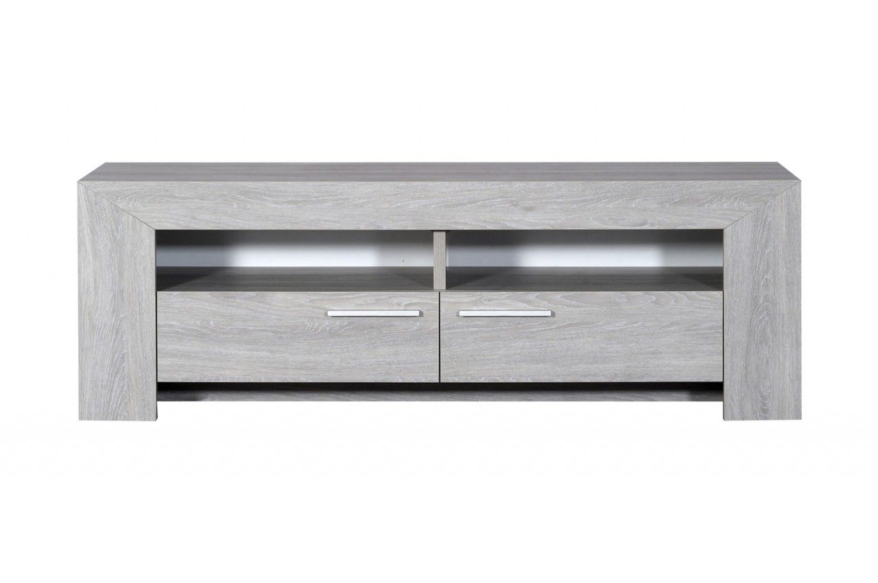 Meuble Tv Chene Gris Clair - Meuble Tv En Bois Ch Ne Gris Clair 2 Portes 2 Niches Novomeuble[mjhdah]https://www.novomeuble.com/1797-thickbox_default/meuble-tv-en-bois-chene-gris.jpg