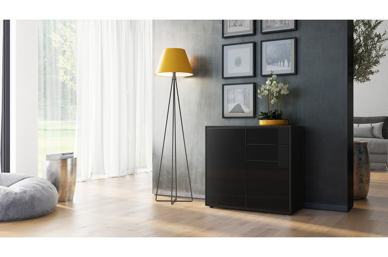 meuble commode rangement pour salon. Black Bedroom Furniture Sets. Home Design Ideas