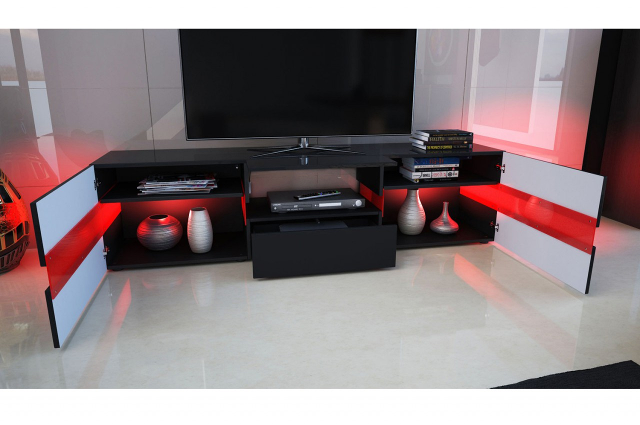 Meuble Tv Design Vegas A Led Artzein Com # Vegas Meuble Tv