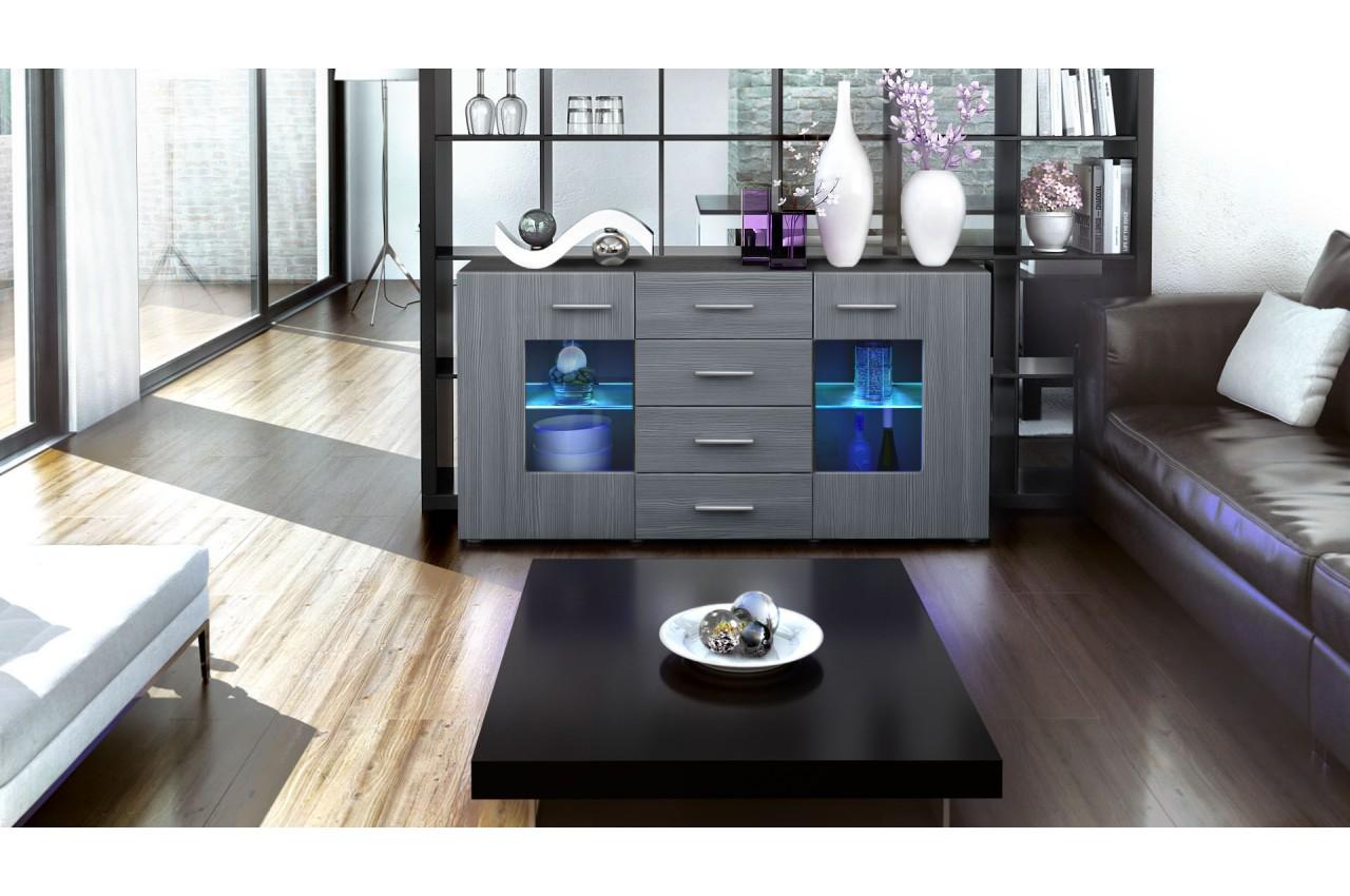 Buffet Design Noir Buffet Design Noir With Buffet Design Noir  # Meubles Tv Oxigen Blanc Artzein