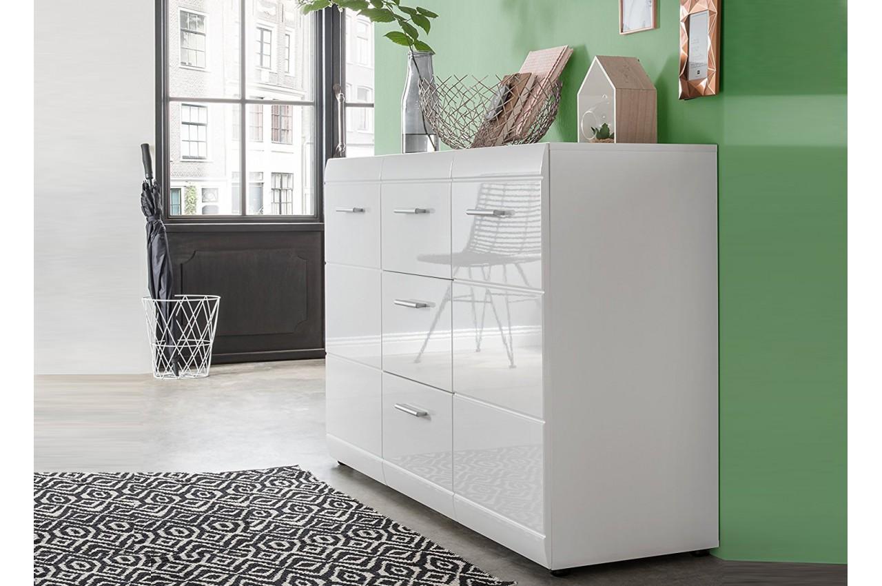 buffet design laqu blanc pas cher pour salle manger. Black Bedroom Furniture Sets. Home Design Ideas