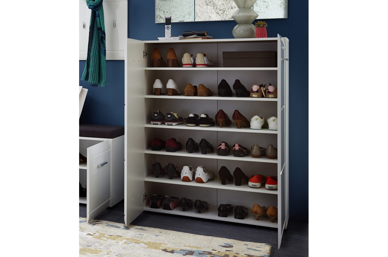 meuble d 39 entr e couloir blanc laqu novomeuble. Black Bedroom Furniture Sets. Home Design Ideas