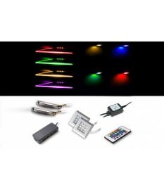 Éclairage LED RGB clip + carré