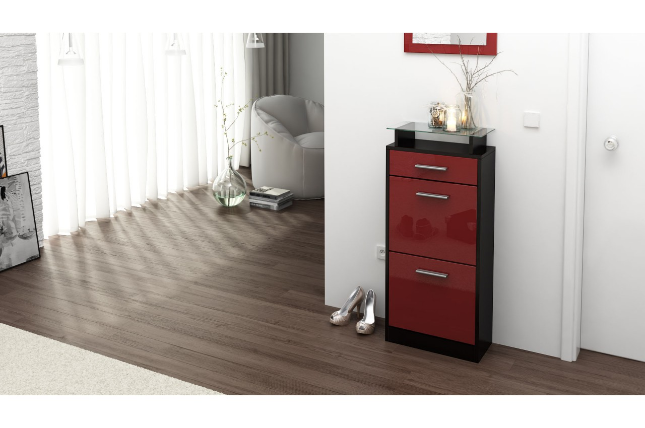 Petit meuble range chaussures design pour rangement entr e for Petit meuble a chaussure