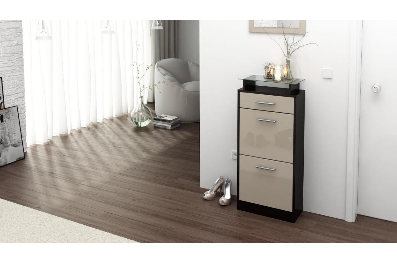 petit meuble range chaussures design pour rangement entr e. Black Bedroom Furniture Sets. Home Design Ideas