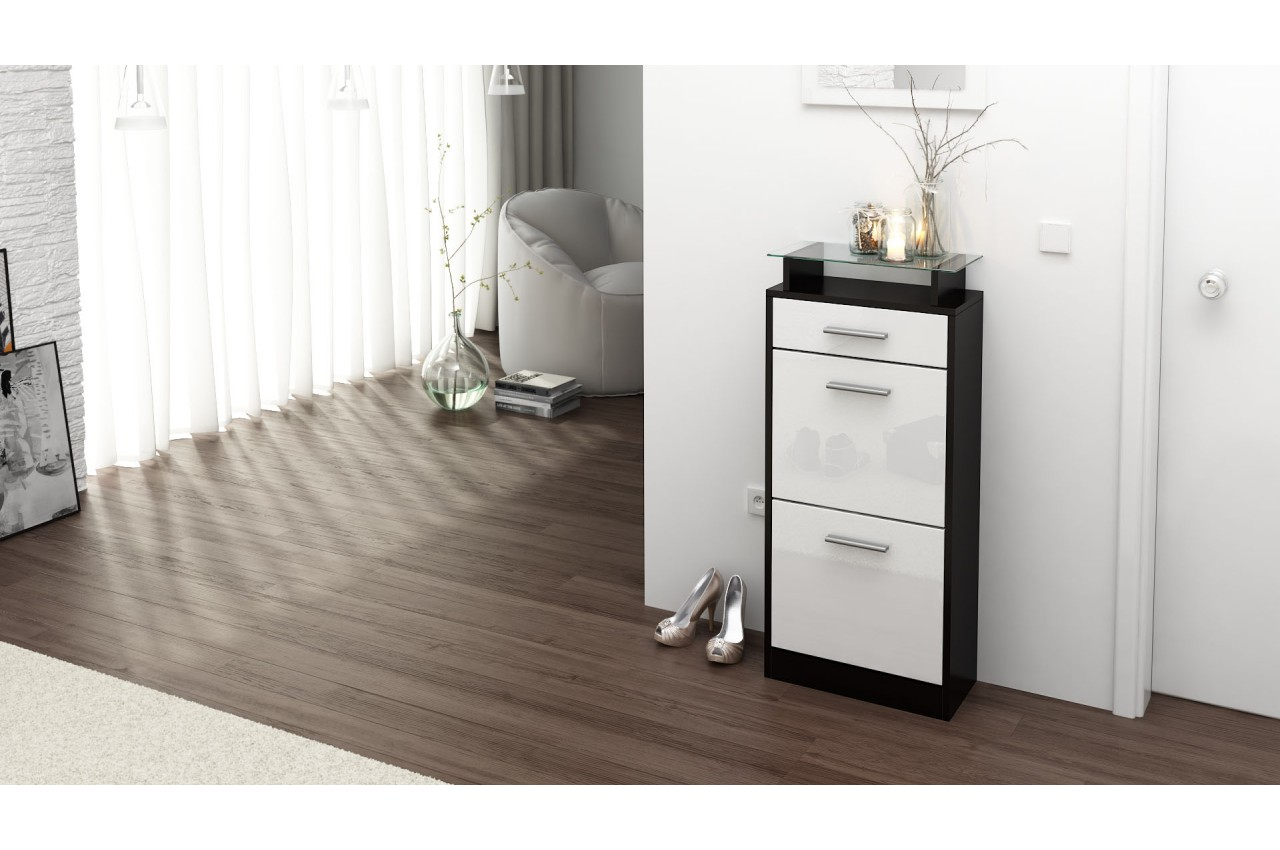 petit meuble range chaussures design pour rangement entr e. Black Bedroom Furniture Sets. Home Design Ideas