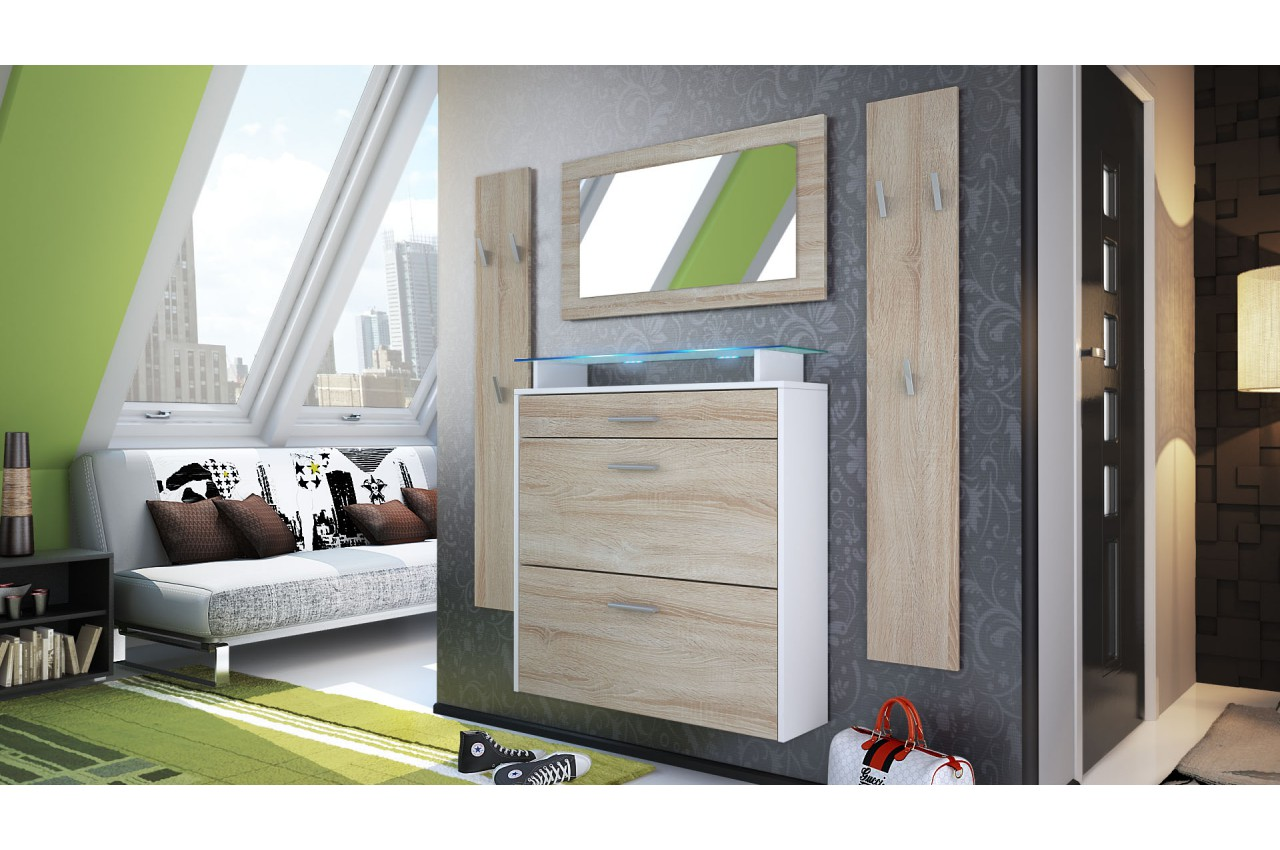 meuble chaussures suspendu et porte manteaux pour ensemble chaussures. Black Bedroom Furniture Sets. Home Design Ideas
