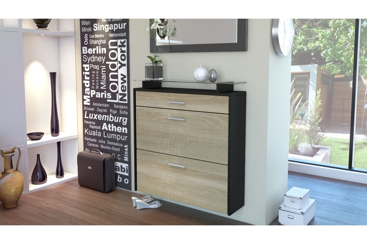 meuble rangement chaussures suspendu novomeuble. Black Bedroom Furniture Sets. Home Design Ideas