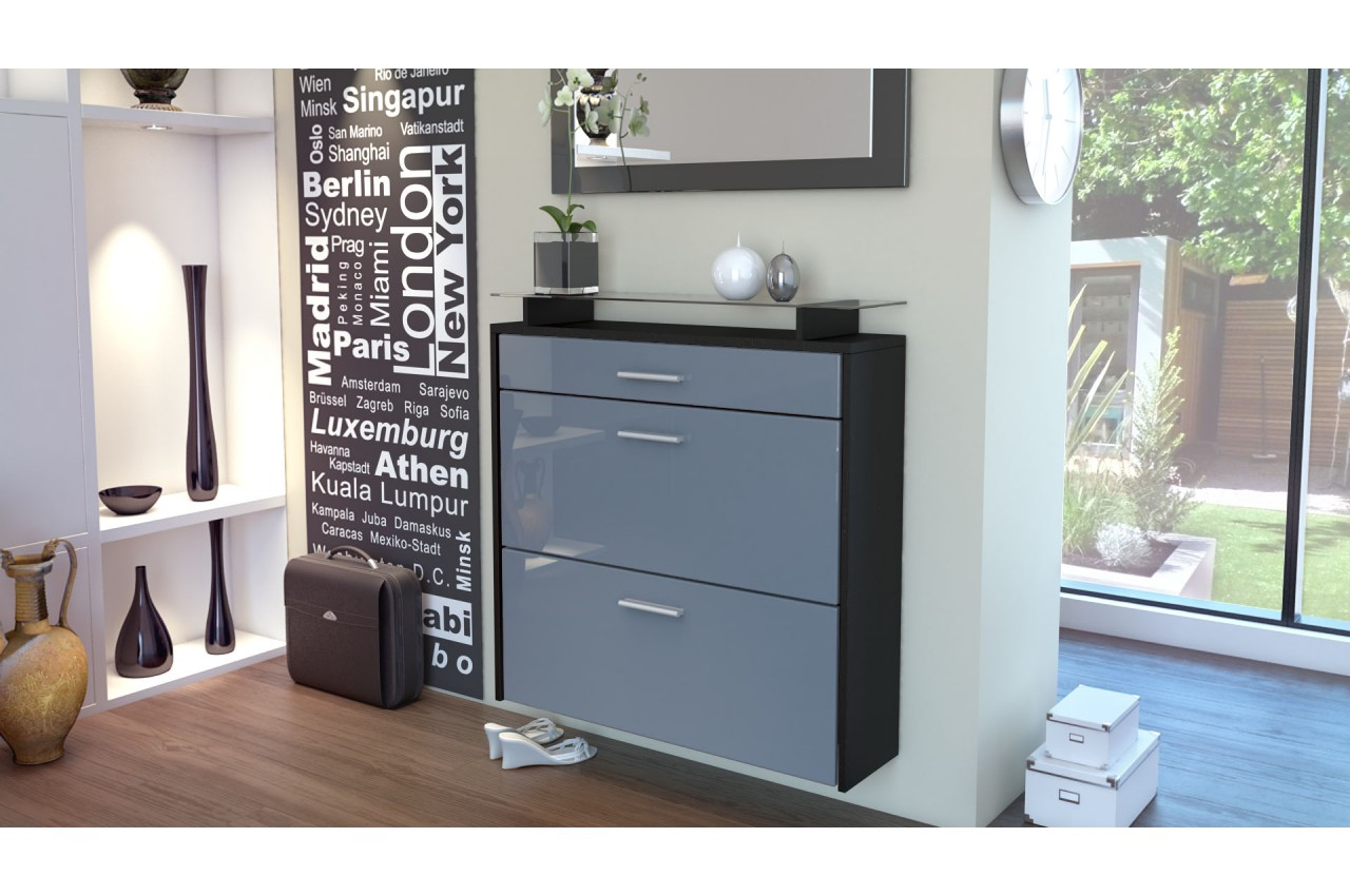 meuble rangement chaussures suspendu pour meuble entr e. Black Bedroom Furniture Sets. Home Design Ideas