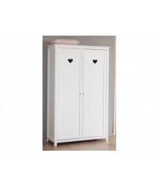 Armoire blanc laqué 2 portes