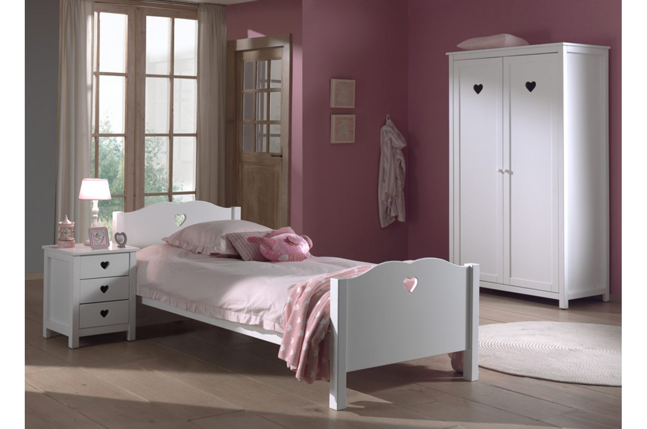 chambre coucher fille novomeuble. Black Bedroom Furniture Sets. Home Design Ideas