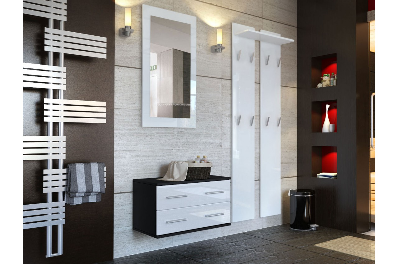 composition de meuble d 39 entr e mural pour meuble entr e. Black Bedroom Furniture Sets. Home Design Ideas
